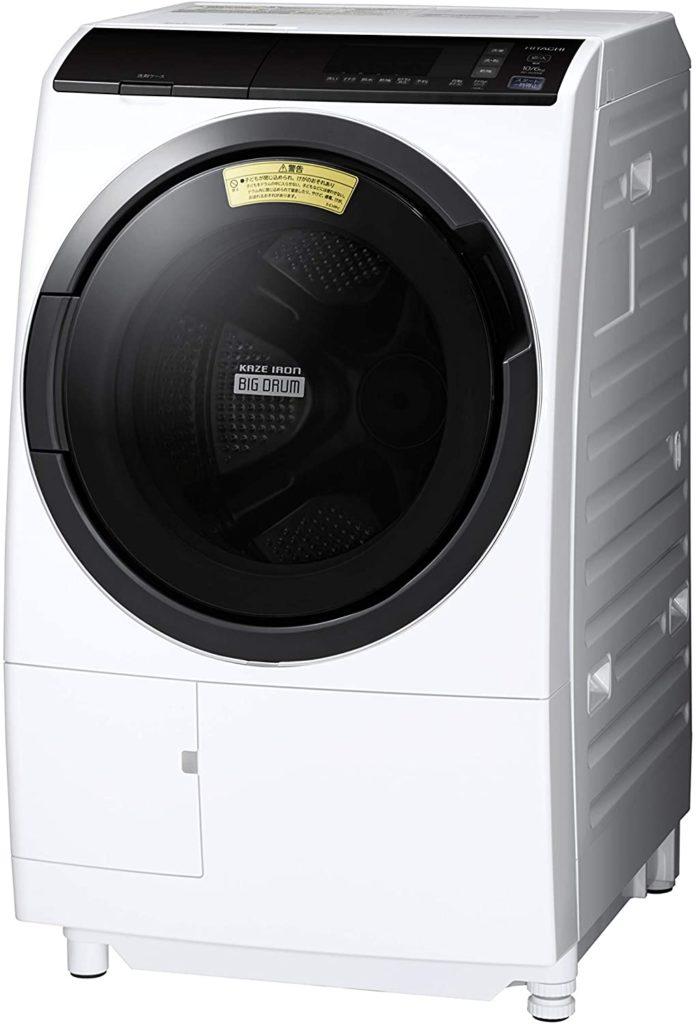 時短 節約 効率 日立 ドラム式洗濯乾燥機 ビッグドラム 洗濯10kg/洗濯~乾燥6kg 左開き 風アイロン