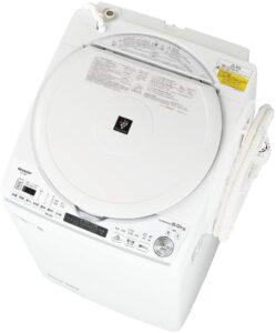 シャープ 洗濯機 洗濯乾燥機 ES-TX8E-W 穴なし槽 インバーター 8kg プラズマクラスター 搭載 Fホワイト